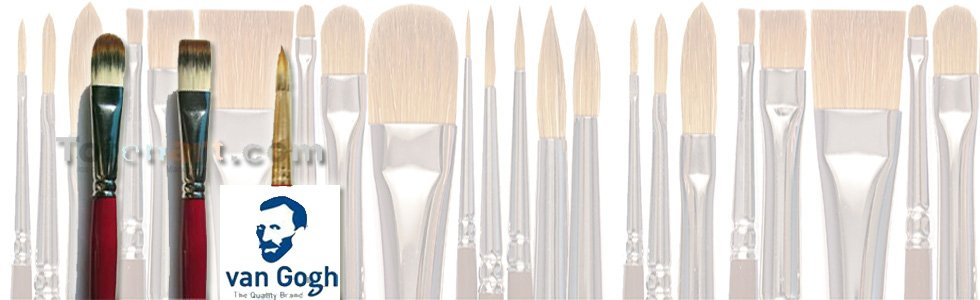 Van Gogh Toray synthetic brushes for acrylic