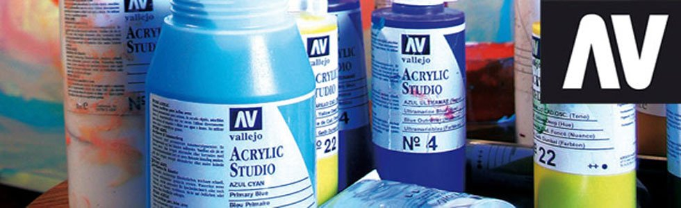 Vallejo Studio acrylic paints