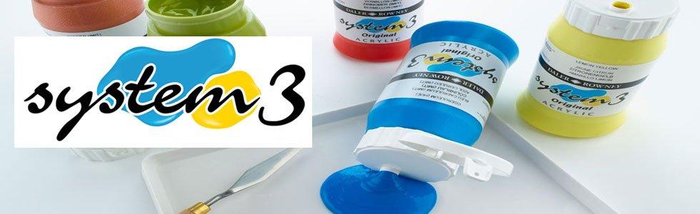 System 3 Daler Rowney acrylic paints