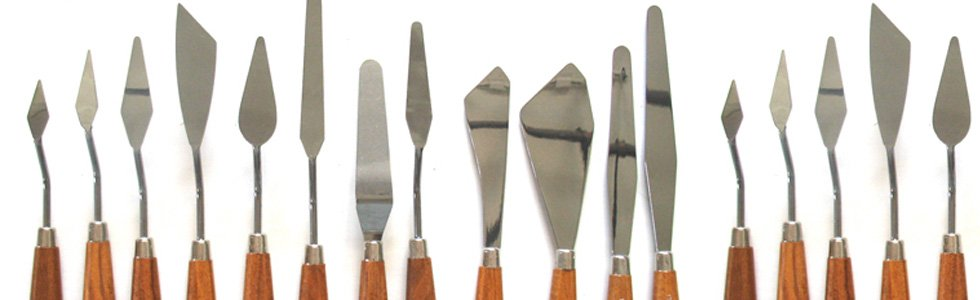 Spatulas for oil techniques