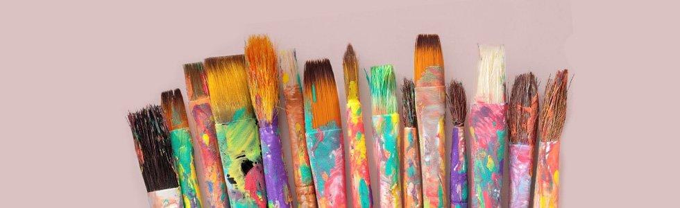 Acrylic brush sets, long handle