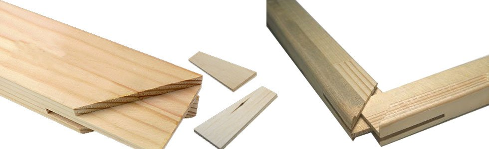 Wooden laths for special frame