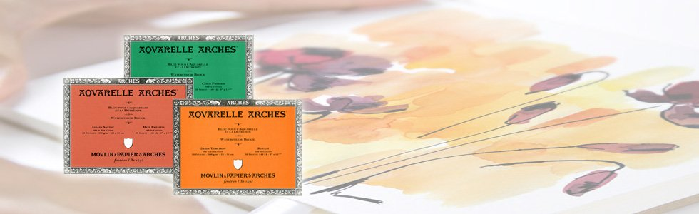 Pads papers for watercolour painting