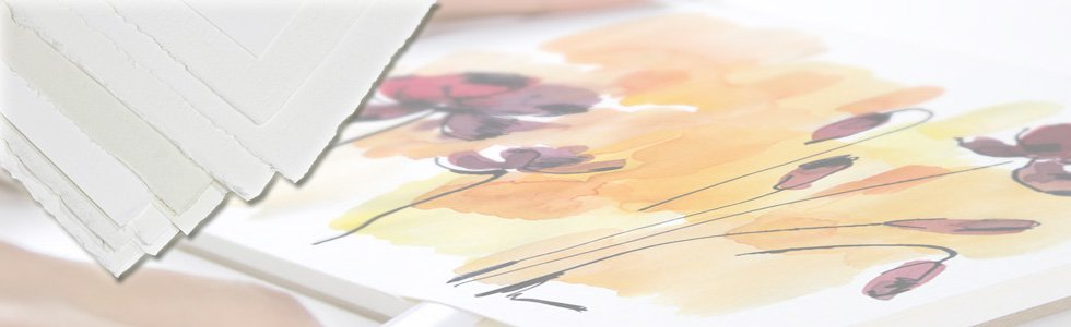 Sheets papers for watercolour painting