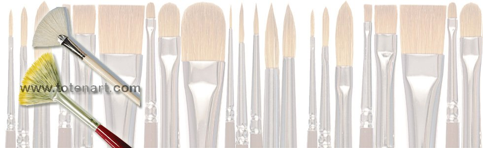 Fan brushes for acrylic
