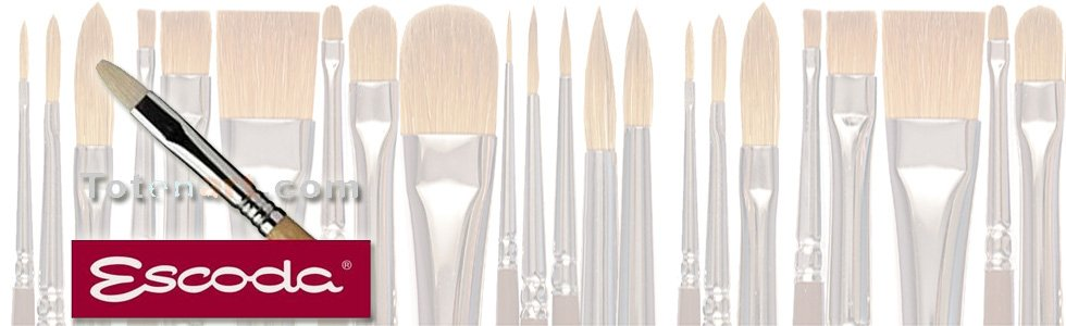 Escoda Chunking bristle brushes for oil