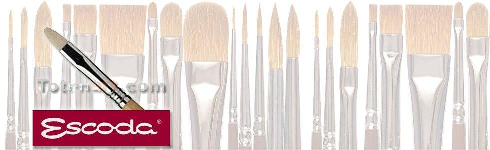 Escoda Chunking bristle brushes for acrylic