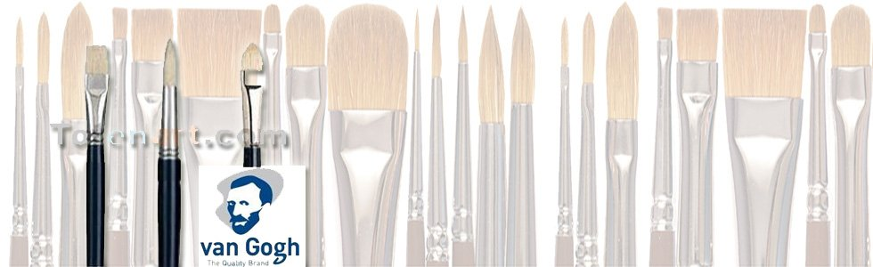 Van Goth Chunking bristle brushes for acrylic