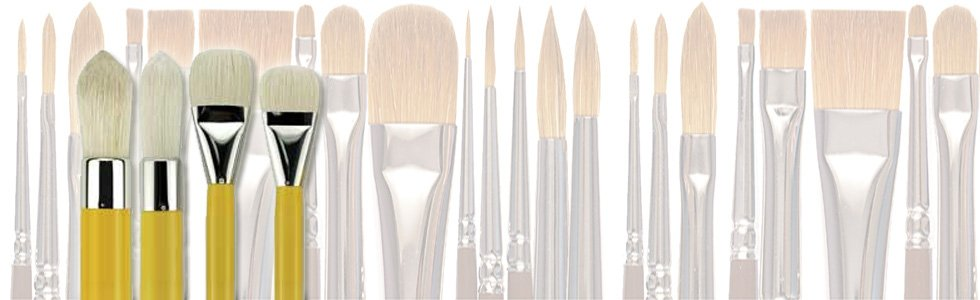 Bristle brushes for oil