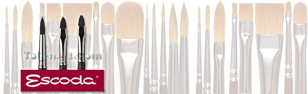 Escoda Teijin brushes for acrylic