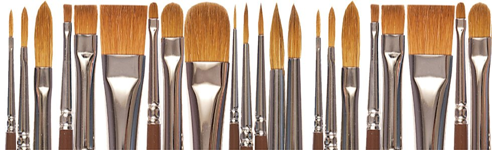 Long handle brushes (oil and acrylic)
