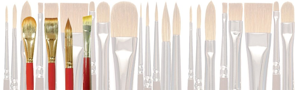 Synthetic brushes long handle for acrylic