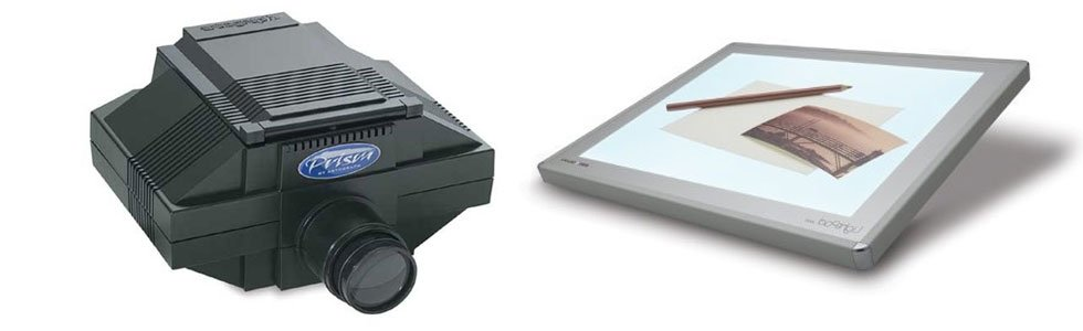 Light pad and projectors