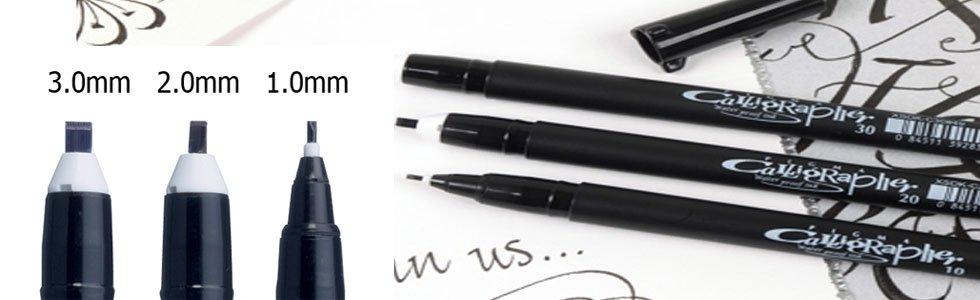 Sakura Pigma Graphic and Calligraphy Pen writing markers