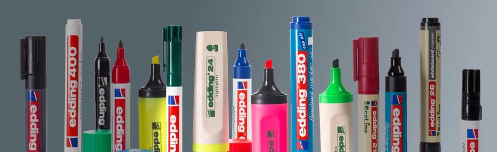 Edding Markers Serie 1300 - Round tip 2 mm.
