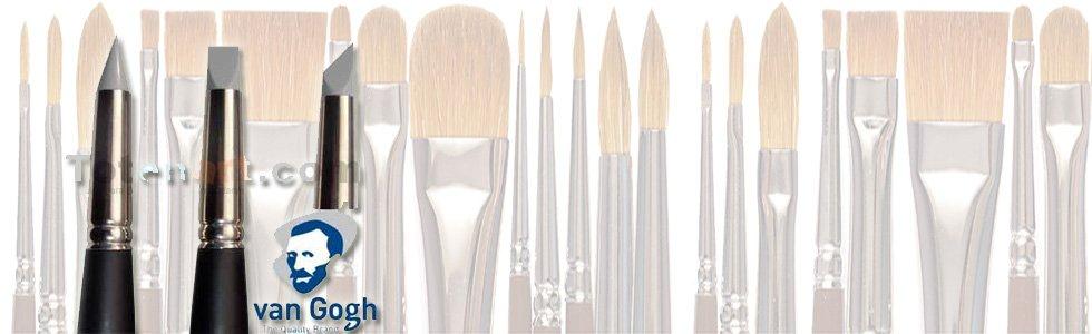 Rubber brush for acrylic glazes