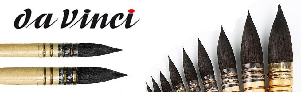 Short handle brushes Da Vinci Petit Gris