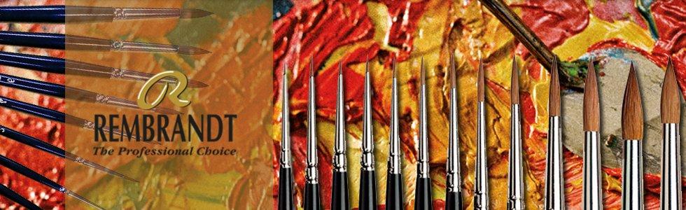 Brushes red sable Rembrandt short handle