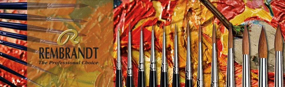 Pure Red Sable Brushes Rembrandt long handle