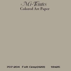Mi-teintes Canson Gris Humo, 160 gr., 50x65 cm.