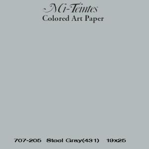 Mi-teintes Canson Gris Chine, 160 gr., 50x65 cm.