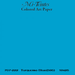 Mi-teintes Canson Azul Turquesa, 160 gr., 21X30 cm.