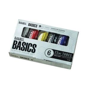 Estuche 6 Acrilicos Basics Liquitex 22 ml.