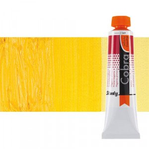 Water mixable oil colour Cobra Study colour permanent medium yellow (40 ml)