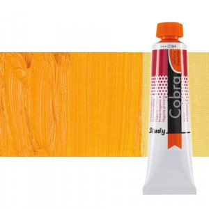 Water mixable oil colour Cobra Study colour permanent dark yellow (40 ml)