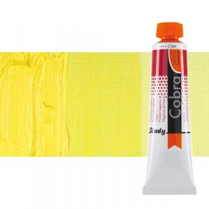 Water mixable oil colour Cobra Study colour permanent yellow lemon (40 ml)