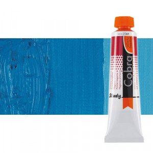 Water mixable oil colour Cobra Study colour primary cyan (40 ml)