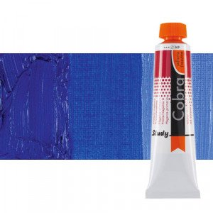 Water mixable oil colour Cobra Study colour ultramarine blue (40 ml)