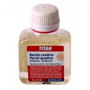 Barniz cuadros brillante Titan, 1000 ml.