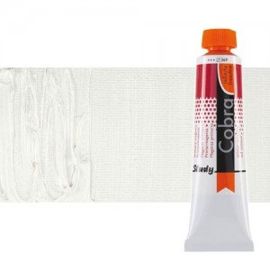 Water mixable oil colour Cobra Study colour titanium white   (40 ml)