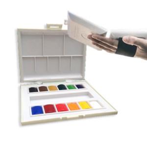 Totenart-Caja de 12 acuarelas Sennelier con correa elástica.