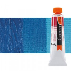 Water mixable oil colour Cobra Study colour cerulean phthalo blue (40 ml)