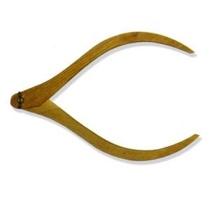 totenart-Compas de madera de escultura, 25 cm.