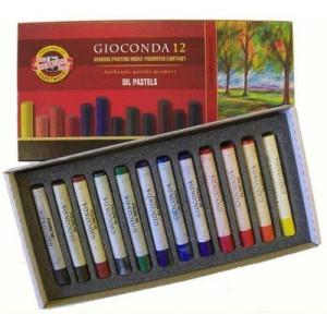 totenart-Caja pastel al Oleo Gioconda, 12 colores.