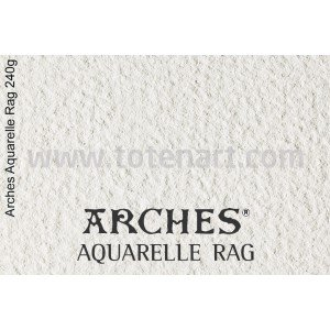 Infinity Arches Aquarelle Rag, 240 gr., A4, caja 25 uds.