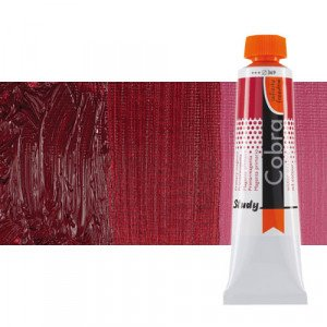 Water mixable oil colour Cobra Study colour madder lacquer (40 ml)