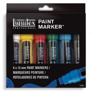 Rotulador Acrilico Liquitex Paint Marker, set 6 uds 18 mm.