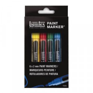 Rotulador Acrilico Liquitex Paint Marker, set 6 uds 2 mm.