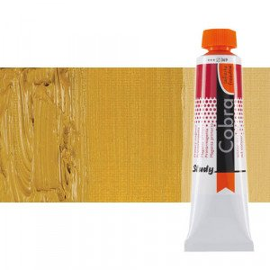 Water mixable oil colour Cobra Study colour yellow ocher (40 ml)