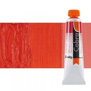 Water mixable oil colour Cobra Study colour Pyrrole light red (40 ml)