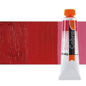 Water mixable oil colour Cobra Study colour dark pyrrole red  (40 ml)