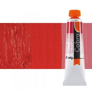 Water mixable oil colour Cobra Study colour pyrrole red (40 ml)