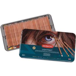 Colour pencils metal box Lightfast Derwent 36 uds.