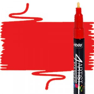 totenart-Rotulador 4Artist Pebeo al Óleo 2 mm rojo