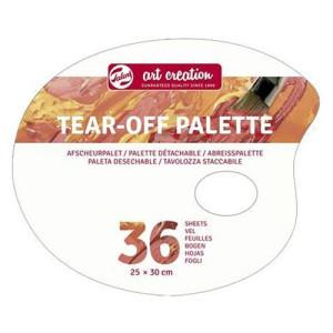 Tear-Off Oval Palette, 36 sheets, 25x30 cm
