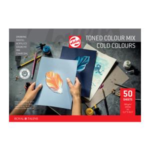 Multitechnique Pad Block Cold Colours, 180 gr, A4, 50 s.